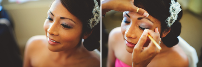 hyatt clearwater wedding: bride's eyes