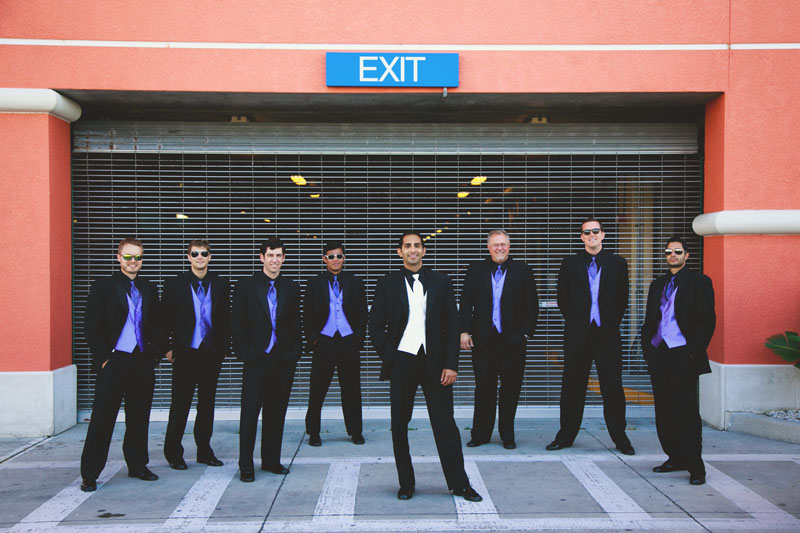 hyatt clearwater wedding: groomsmen