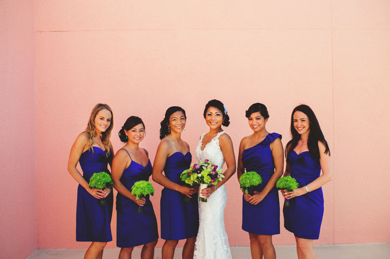 hyatt clearwater wedding: bridesmaids