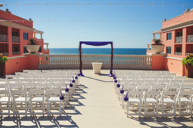 hyatt clearwater wedding: ceremony site