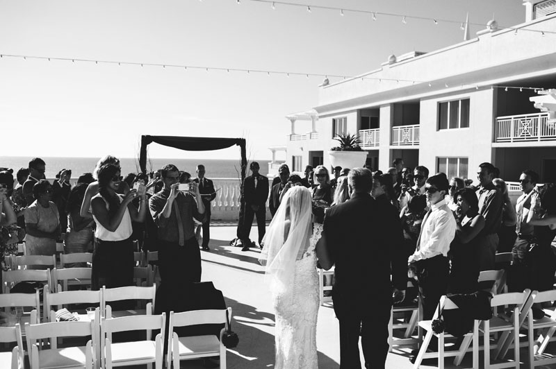 hyatt clearwater wedding: walking down aisle