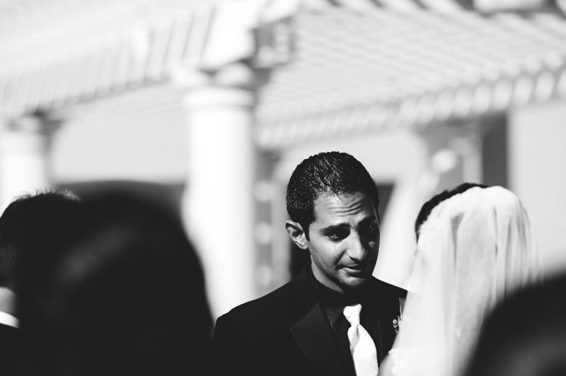 hyatt clearwater wedding: groom crying
