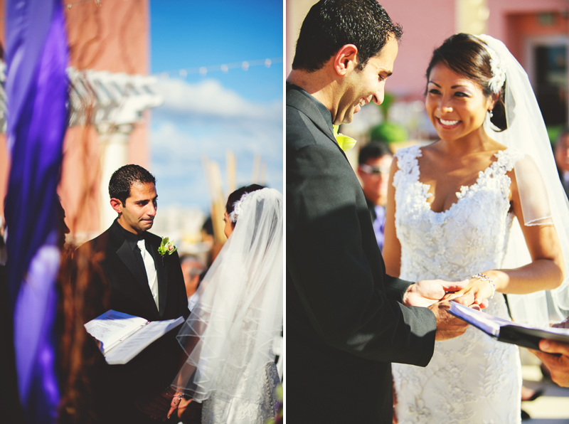 hyatt clearwater wedding: ring exchange