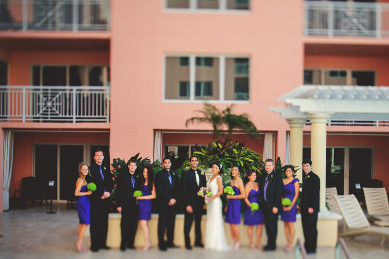 hyatt clearwater wedding: bridal party