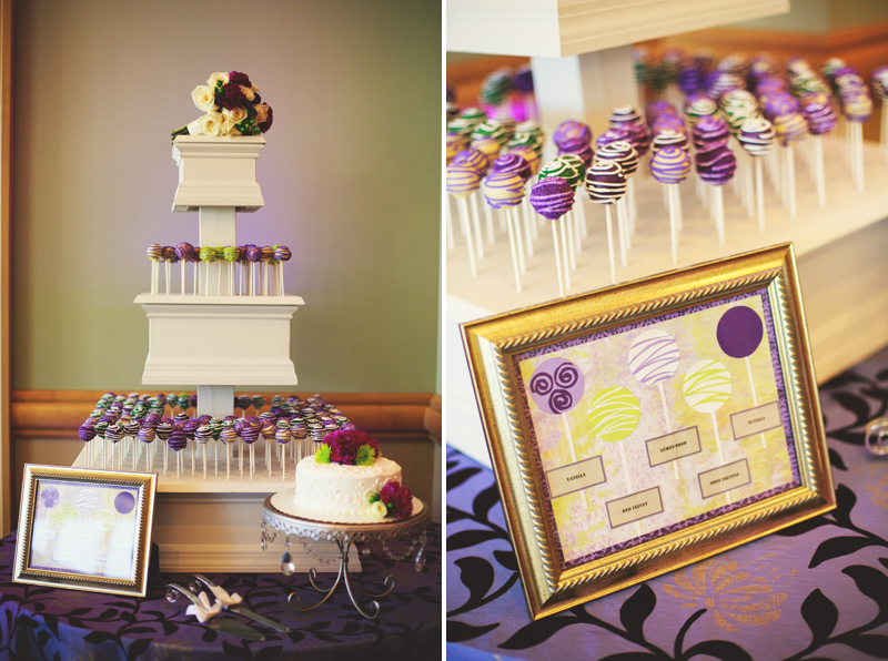 hyatt clearwater wedding: cake pops