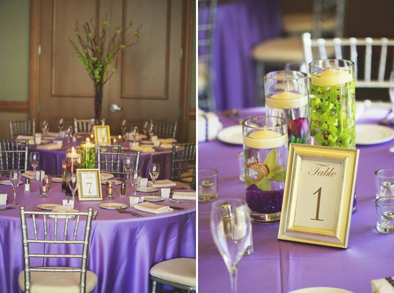 hyatt clearwater wedding: reception details