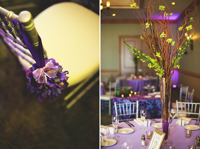 hyatt clearwater wedding: center pieces