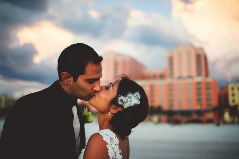 hyatt clearwater wedding: sunset