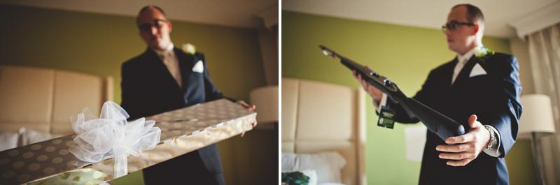 grooms present gun