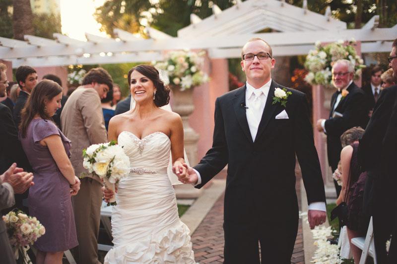 vinoy renaissance wedding: recessional