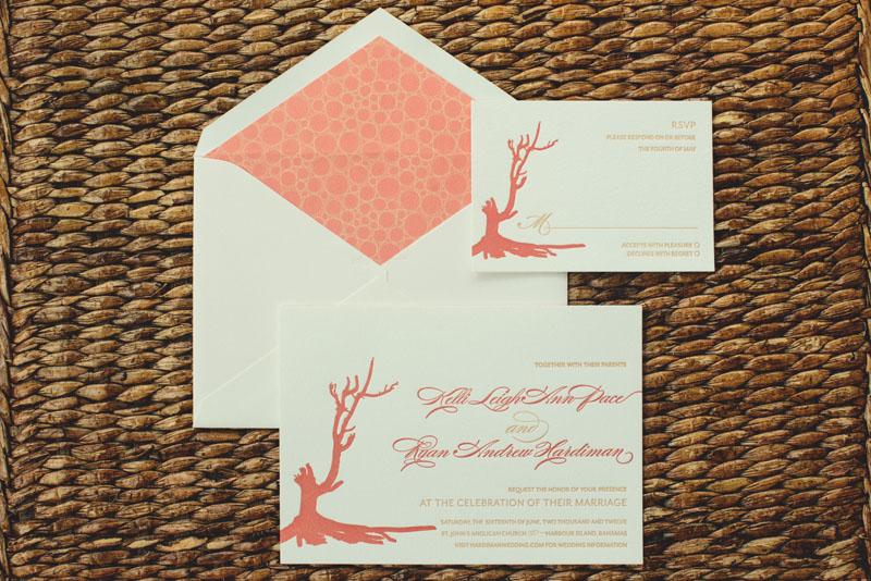 Harbour Island Wedding: invitation
