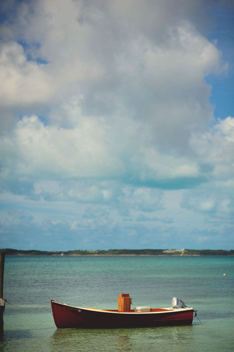 Harbour Island Wedding: boat