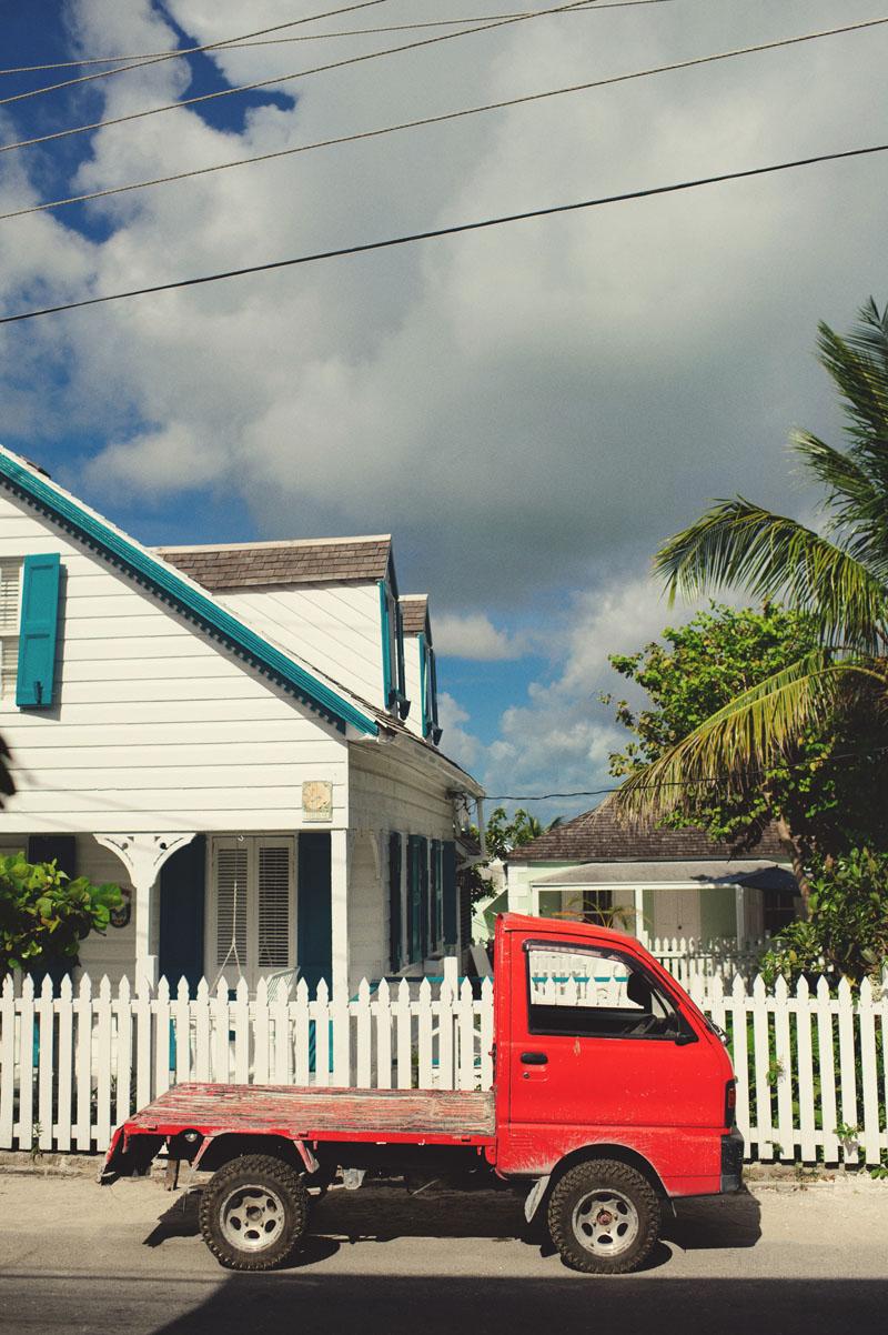 Harbour Island Wedding: red truck
