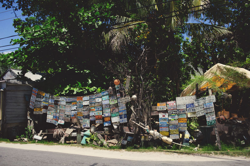 Harbour Island license plate wall