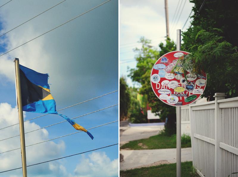 Harbour Island Wedding: bohemian flag