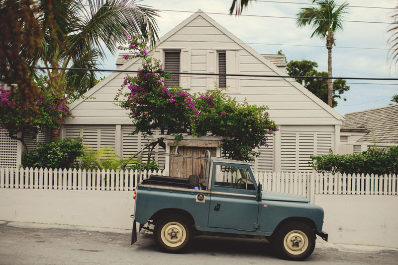 Harbour Island Wedding: land rover defender