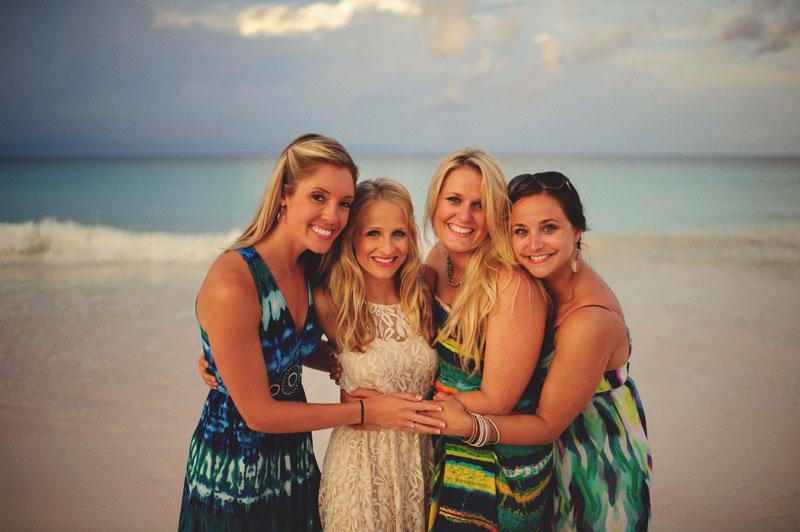 Harbour Island rehearsal dinner: bridesmaids