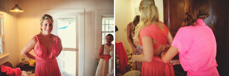 two birds bridesmaid dress