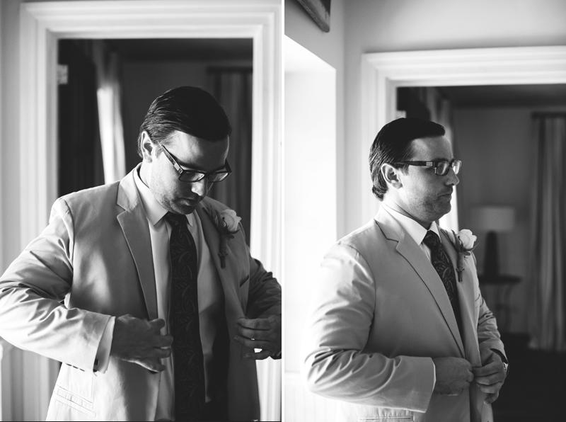 groom getting ready Harbour Island Wedding: