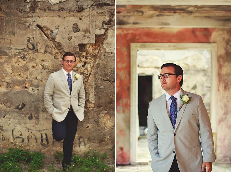 Harbour Island Wedding: groom portraits