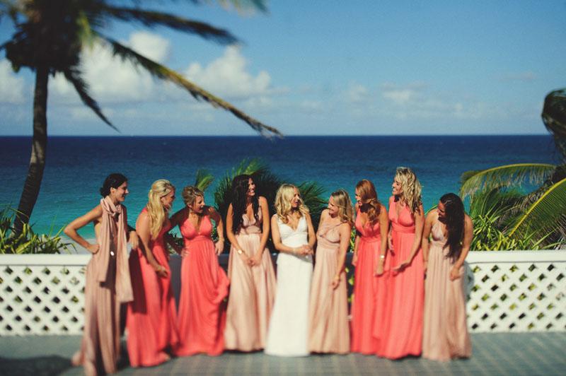 Harbour Island Wedding: Bridesmaids