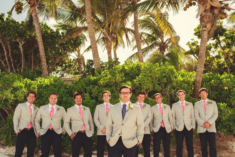 Harbour Island Wedding: groomsmen