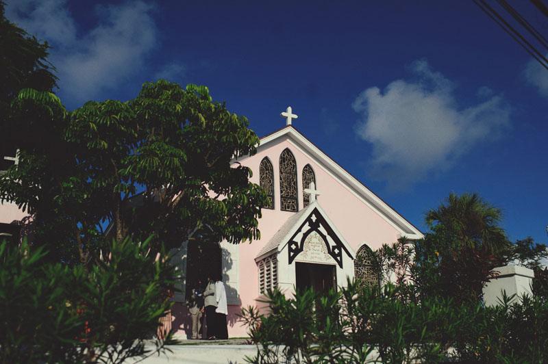 Harbour Island Wedding: St. John Pink Church