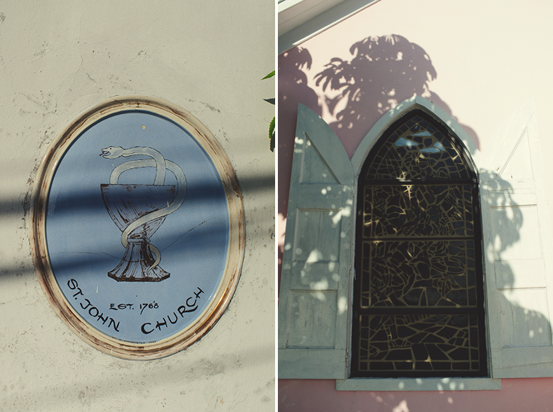 Harbour Island Wedding: St. John Stained glass