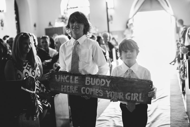 Harbour Island Wedding: here comes the bride sign