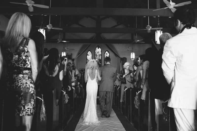 precessional Harbour Island Wedding: