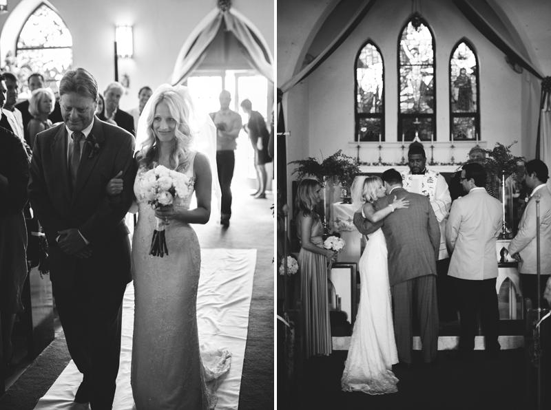 Harbour Island Wedding: precessional St. John Church