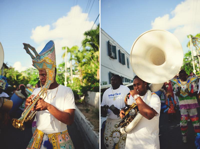 Harbour Island Wedding: street band