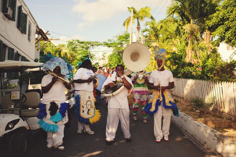 Harbour Island Wedding: junkanoo