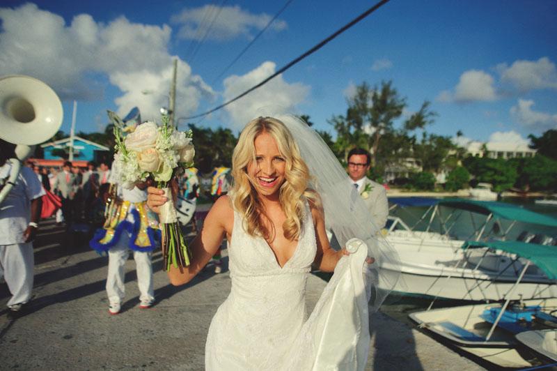 Harbour Island Wedding: dancing bride