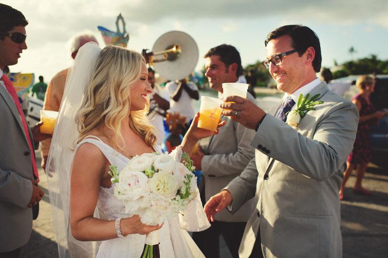 Harbour Island Wedding: cheers