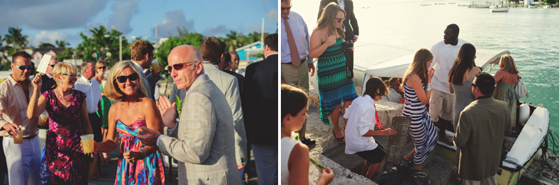 Harbour Island Wedding: getting on to boat ferry