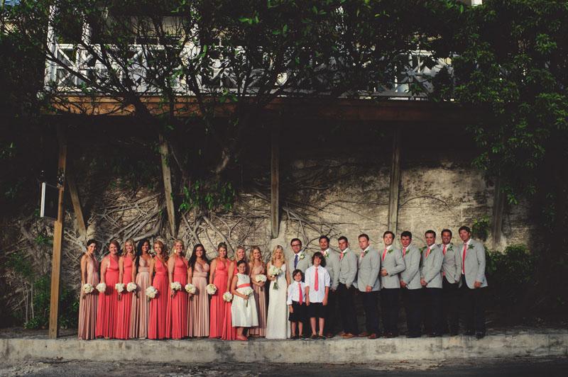 Harbour Island Wedding: bridal party