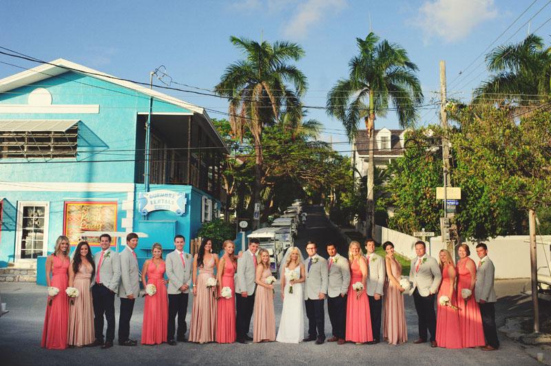 Harbour Island Wedding: bridesmaids and groomsmen