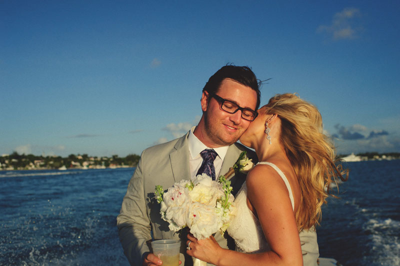Harbour Island Wedding: riding over to the narrows