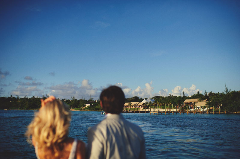 Harbour Island Wedding: on looking the north end narrows