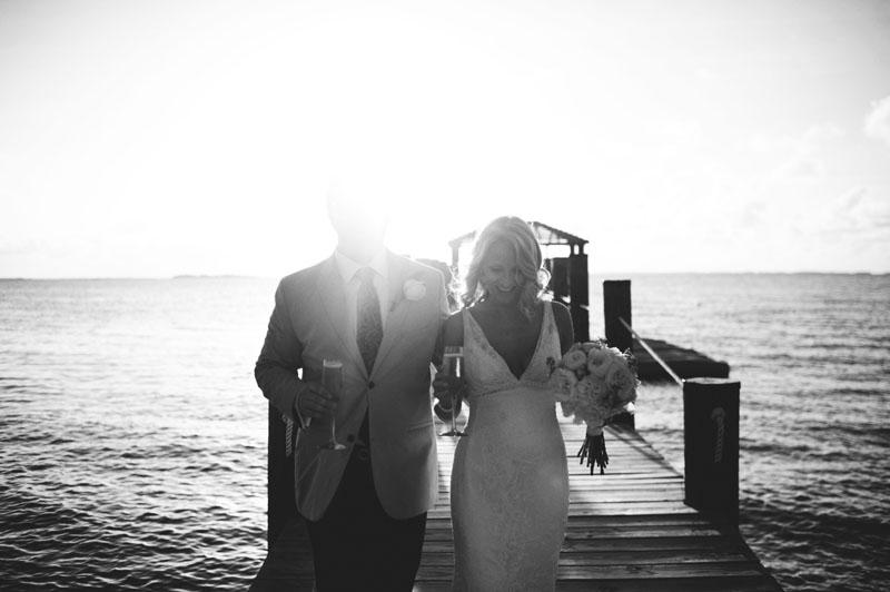 Harbour Island Wedding: walking on the dock