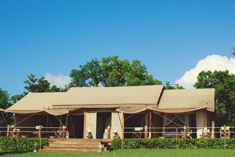 north end narrow balinese tents