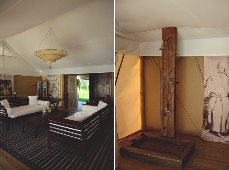 inside the balinese tents