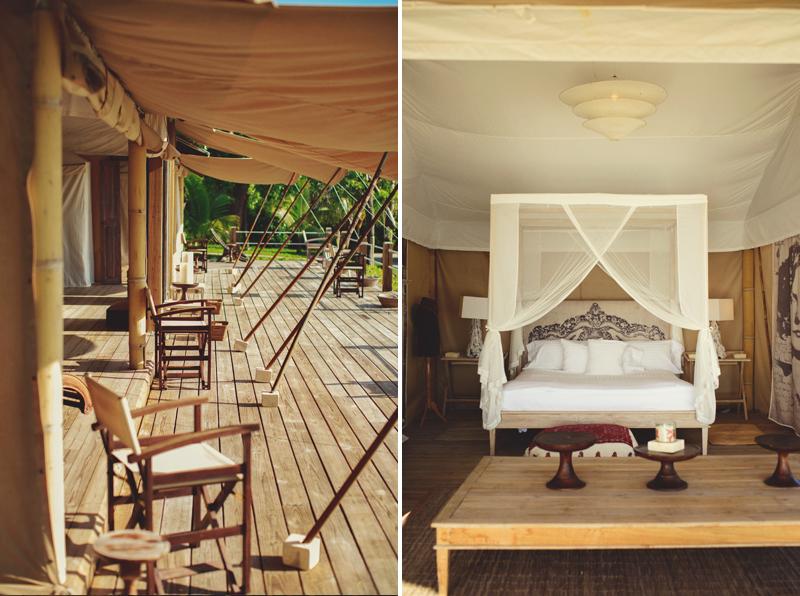 Harbour Island Wedding: balinese tents