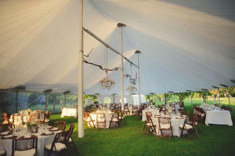 Harbour Island Wedding: reception tent