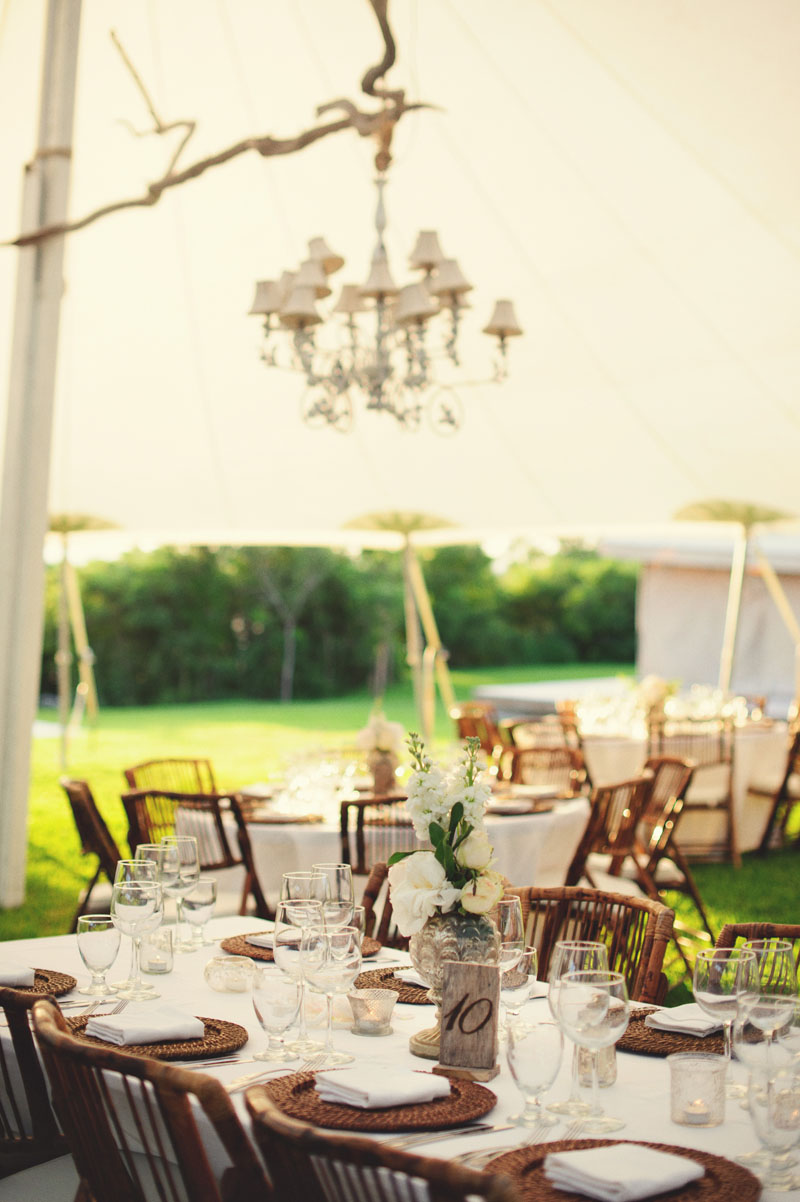 Harbour Island Wedding: table setting