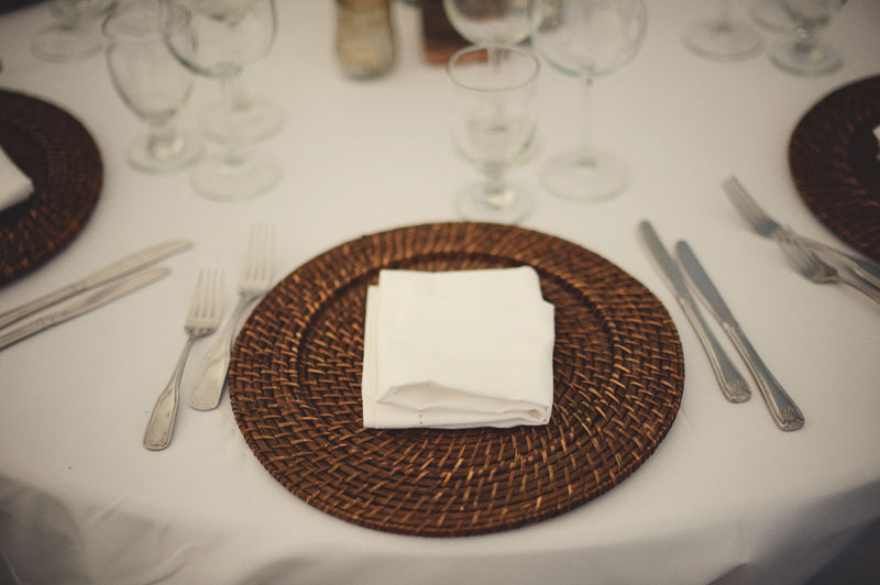 Harbour Island Wedding: place setting