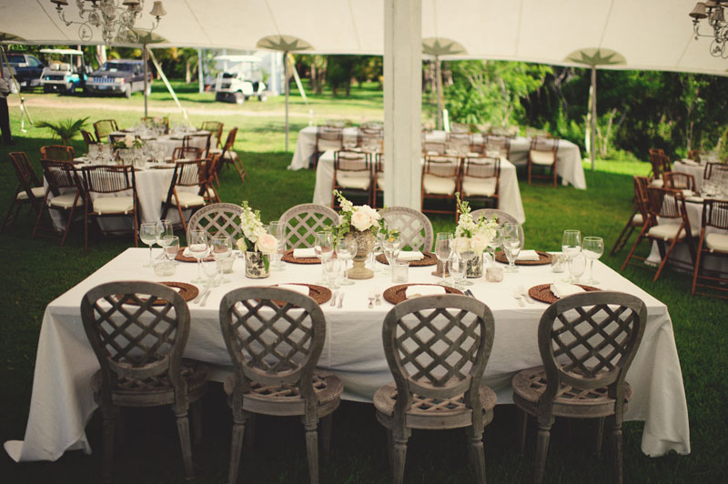 Harbour Island Wedding: reception chairs