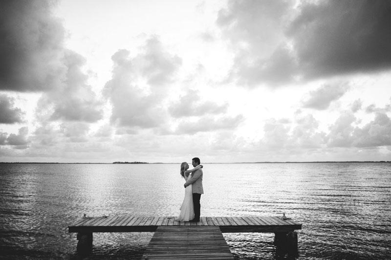 Harbour Island Wedding: portraits on a dock