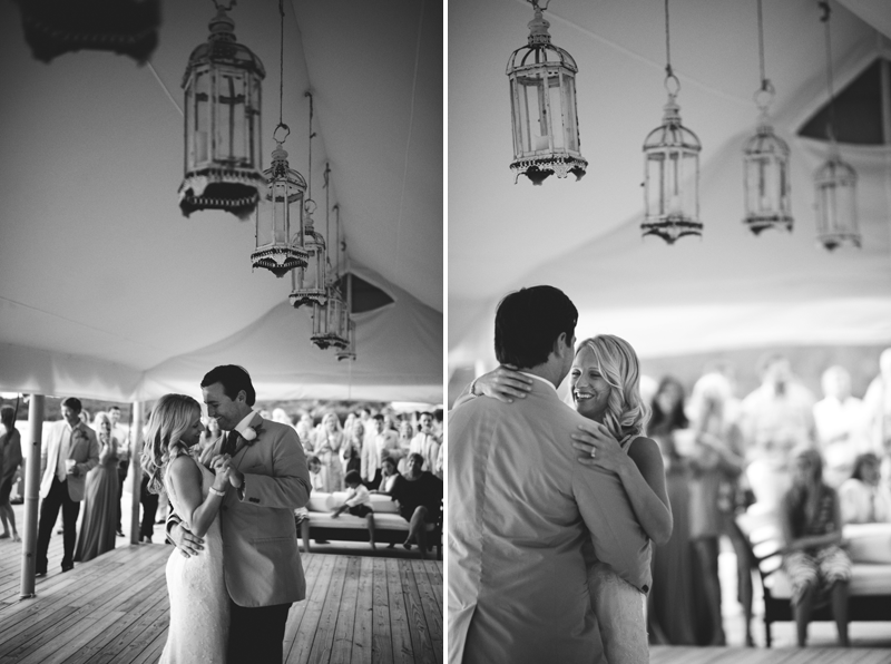 Harbour Island Wedding: bride and groom dancing